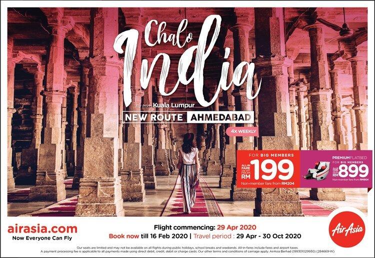 AirAsia Kuala Lumpur to Ahmedabad