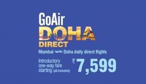GoAir Mumbai-Doha Flight