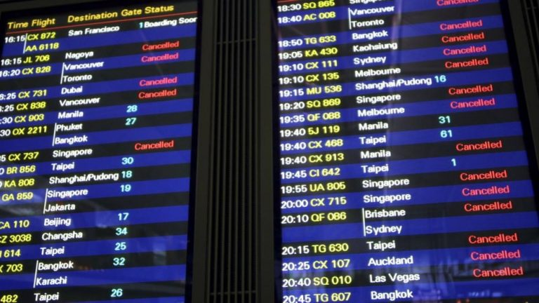 List Suspended Flights China
