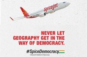 SpiceJet Free Tickets Delhi Voting