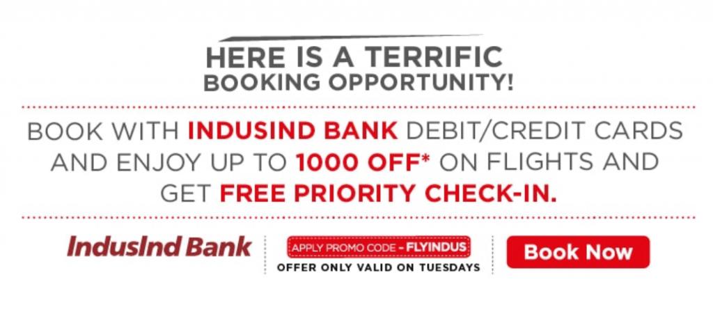 Terrific Tuesday Sale with Indusind Bank casrds