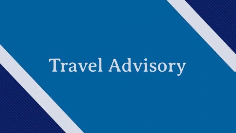 Travel Advisory Coronavirus